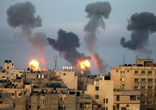 以色列空袭加沙地带造成的死亡人数增至22人
