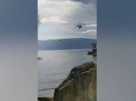 一灭火直升机坠入洱海