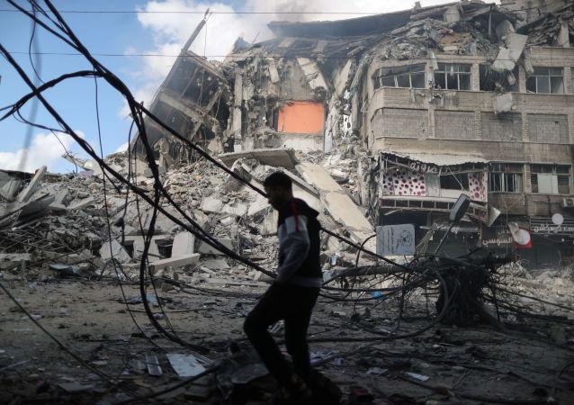 红新月会:冲突升级以来超1330名巴勒斯坦人受伤