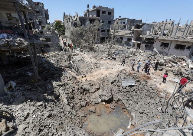 以色列国防军:以军在加沙摧毁哈马斯安全部门负责人办公室