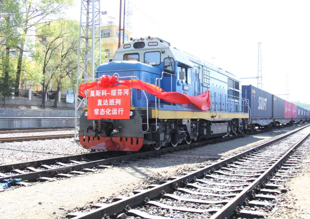莫斯科至绥芬河直达货运班列实现常态化运行