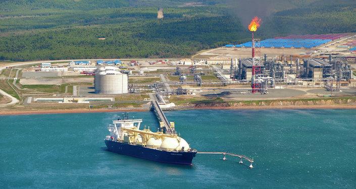 萨哈林能源公司的液化天然气工厂