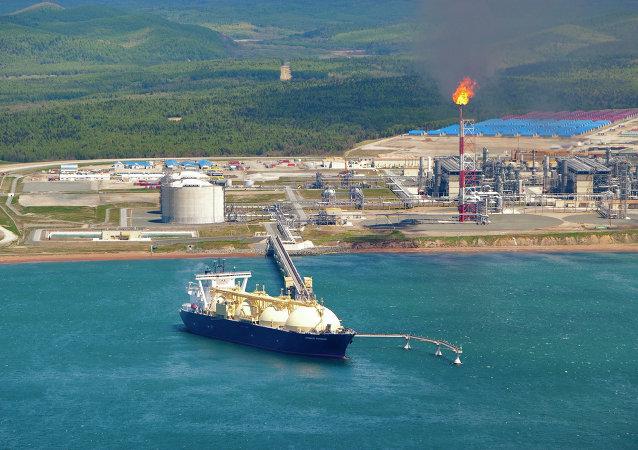 萨哈林的液化天然气工厂