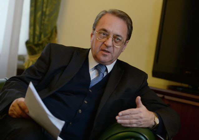 俄罗斯总统近东及非洲国家问题特别代表、外交部副部长米哈依尔·鲍格丹诺夫