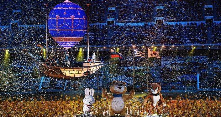 索契奥运会闭幕式。