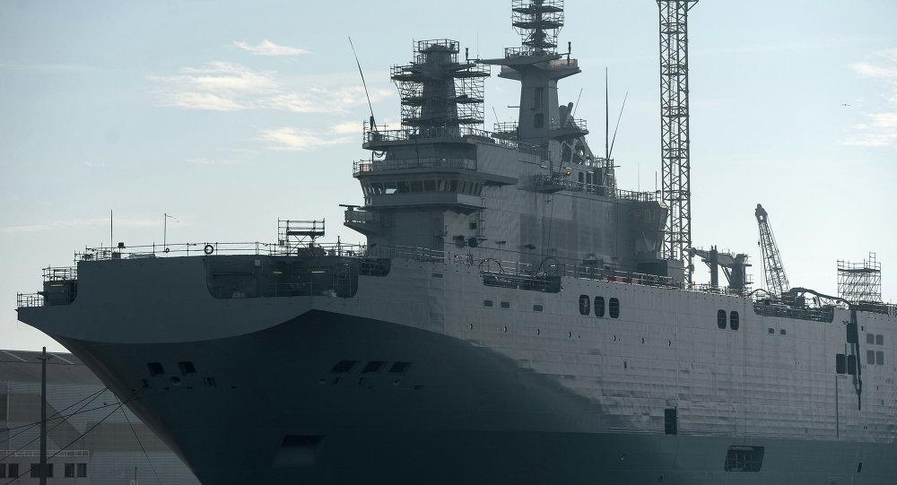 """俄罗斯请法国就未供应""""西北风""""级航母做出解释"""
