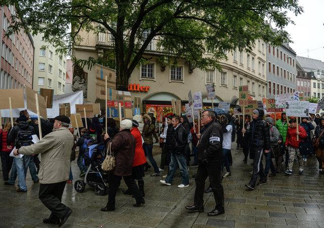 在德国大型城市举行的反伊斯兰示威活动