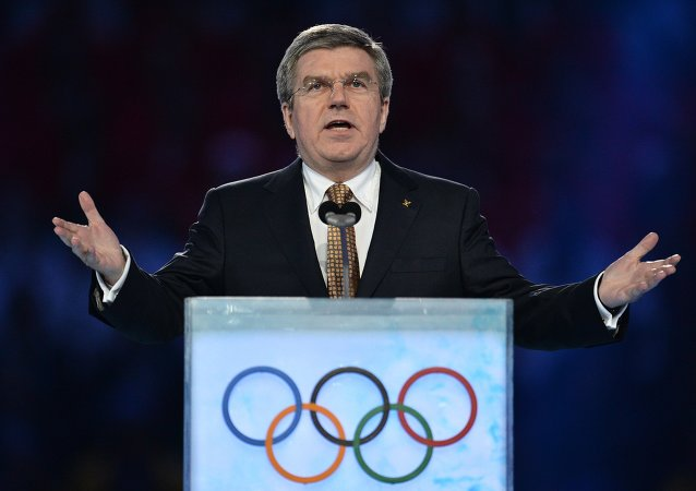国际奥委会主席托马斯•巴赫称