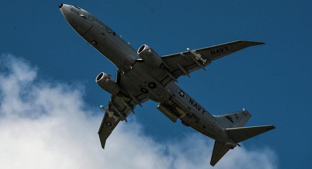 """美海军P-8A """"海神""""反潜巡逻机"""