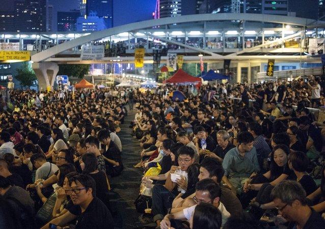 在香港的游行示威事件