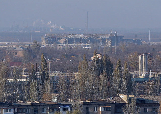 顿涅茨克机场附近