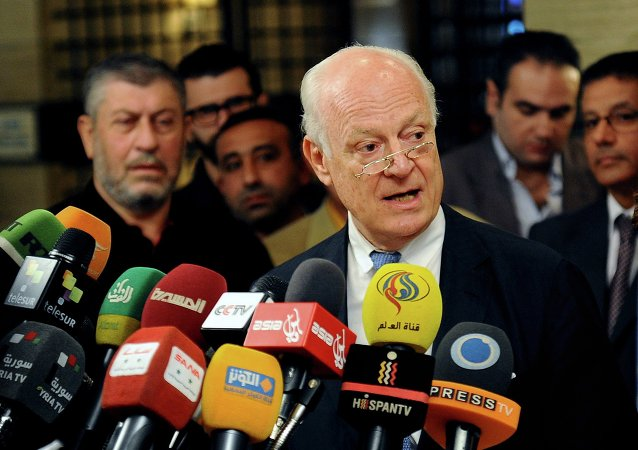 """联合国特使说第三阶段叙利亚问题日内瓦和谈时机""""仍未成熟"""""""