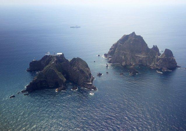日本就韩国庆尚北道知事前往争议岛屿提出抗议
