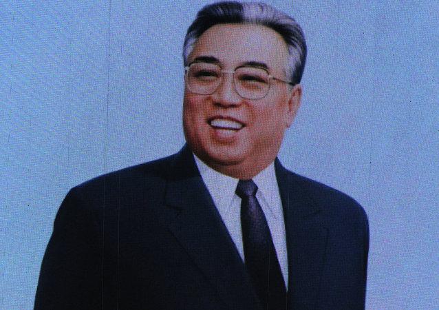 """朝鲜创始人和""""永远的主席""""金日成"""