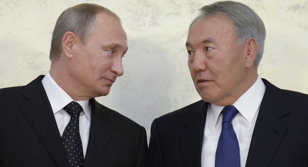 普京與納扎爾巴耶夫