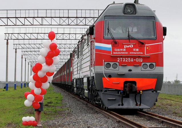 中俄珲春-马哈林诺铁路国际联运线路实现常态化运行