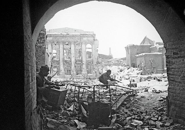 斯大林格勒战役(资料图片,1942年)