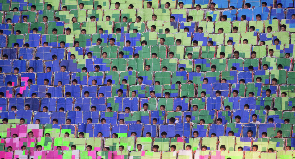 """朝鲜取消了2015年的""""阿里郎""""庆祝活动"""