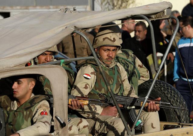 埃及军方歼灭西奈半岛北部19名恐怖分子