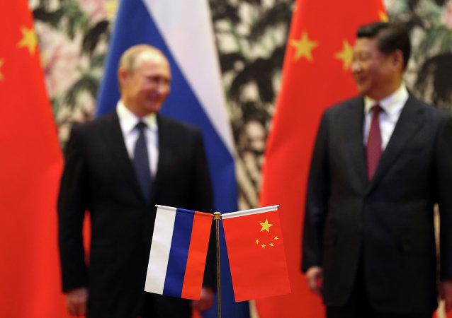 俄罗斯总统弗拉迪米尔•普京与中华人民共和国国家主席习近平