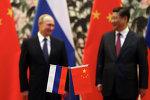俄罗斯总统弗拉迪米尔•普京与中华人民共和国国家主席习近平 (资料图片)
