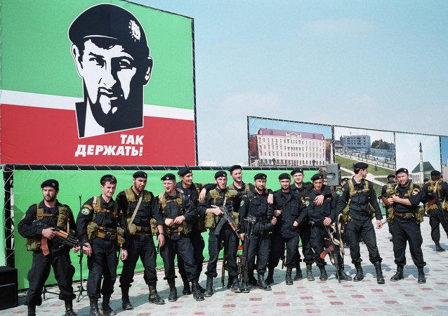 车臣共和国特种兵正为约旦国际特种兵大赛作准备