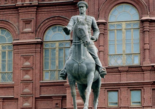 苏联元帅格奥尔吉∙朱可夫的塑像
