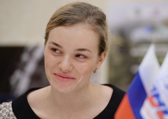 俄罗斯世界冠军阿纳斯塔西娅•沃伊诺娃