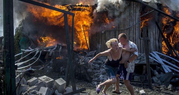 摄影作品《乌克兰黑色的日子》