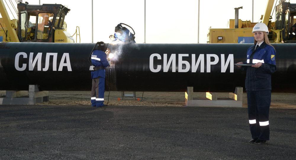 """""""西伯利亚力量""""输气管道"""