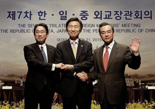 中日韩三国外长会晤在三年停滞后重启