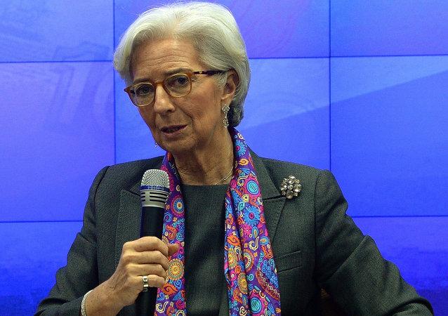 国际货币基金组织(IMF)总裁克里斯蒂娜·拉加德