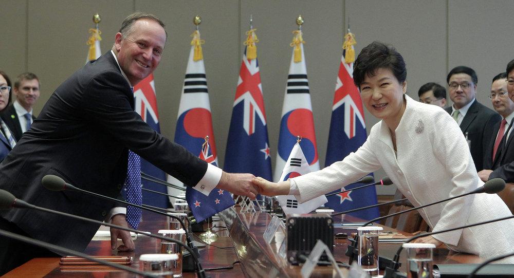 韓國和新西蘭簽署自由貿易協定