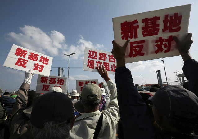 约6.5万日本民众参加驻冲绳美军抗议集会