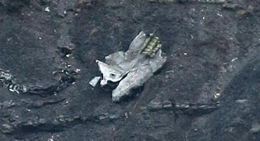 坠毁空客的飞机残骸