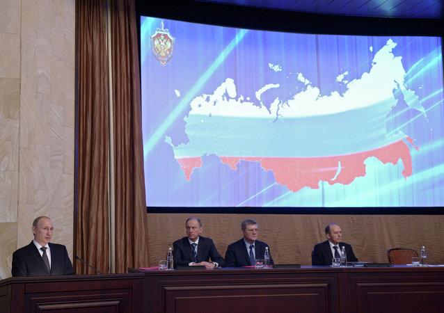 俄联邦总统普京在俄联邦安全局委员会