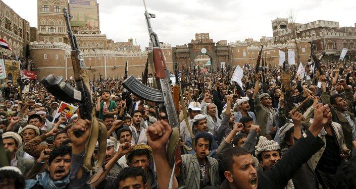 也門首都薩那,2015 年 3 月 26 日