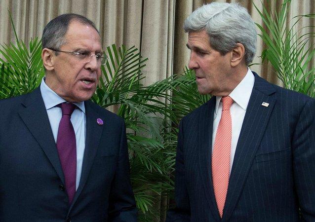 俄外长与美国务卿(资料图片)