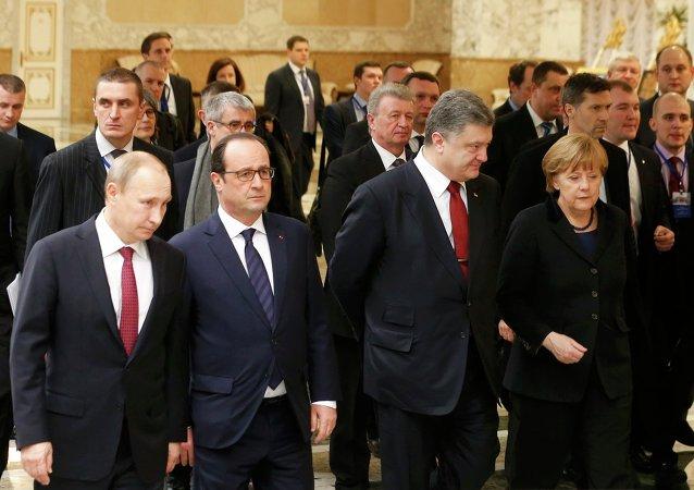 """""""诺曼底四国""""领导人"""
