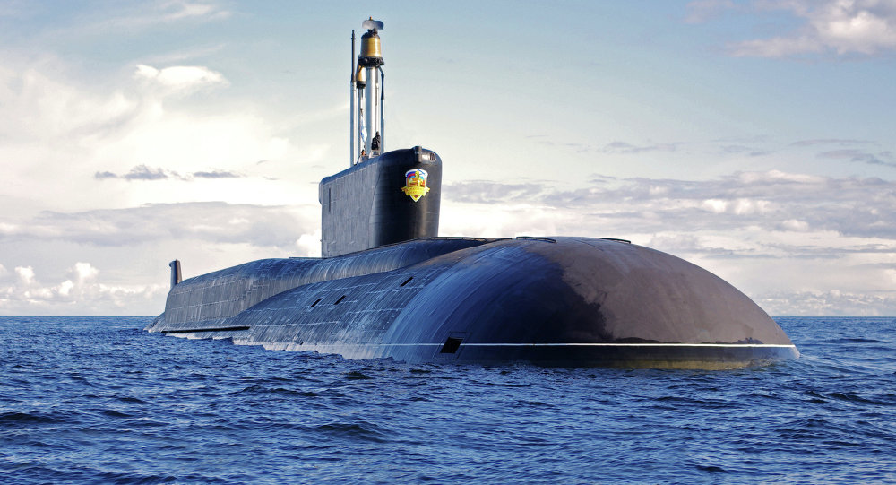 """俄海军最新型""""北风之神""""核潜艇"""