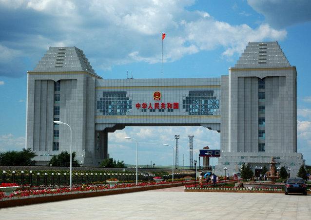 满洲里中俄边境国门