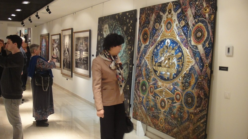 俄罗斯画家作品在莫斯科中国文化中心展出