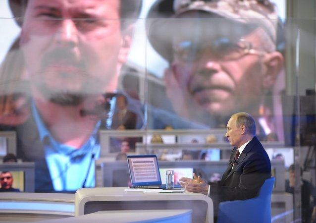"""普京总统於星期二和星期三为""""直播连线""""进行准备"""