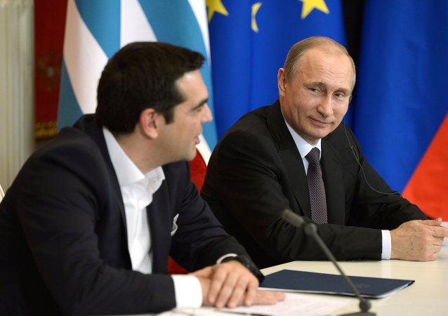 克宫:普京与希腊总理就公投结果进行电话会谈