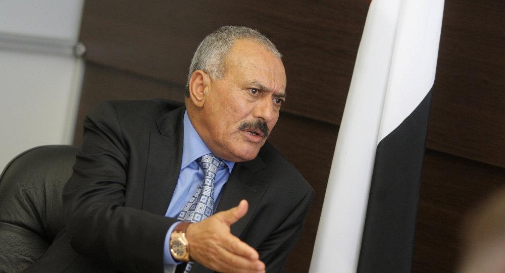 也门前总统阿里·阿卜杜拉·萨利赫/资料图片/