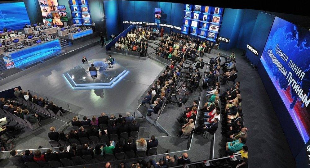俄聯邦總統弗拉基米爾∙普京「直播連線」節目在線直播