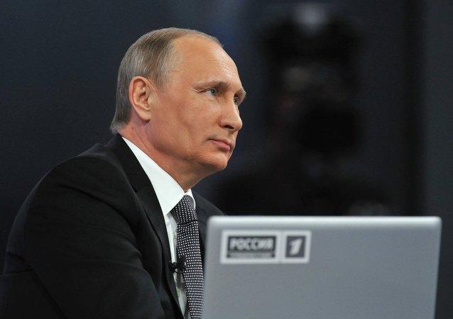 """普京""""直播连线""""收到约170万条俄公民留言"""