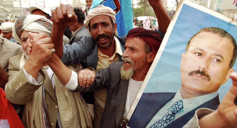 也门前总统萨利赫表示不会出国