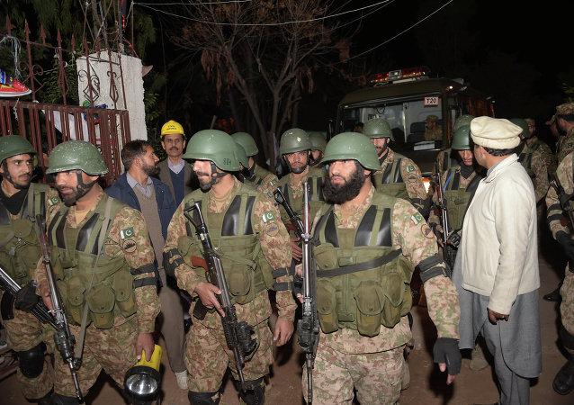 巴基斯坦士兵/资料图片/
