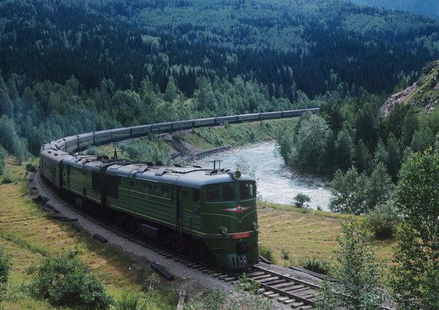 俄中间经西伯利亚铁路中转的货流量增长近一倍